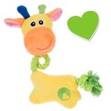 Zoolove Welpenspielzeug Giraffe mit Tau Sunny