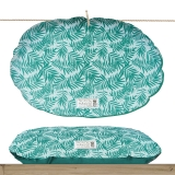 Milk and Pepper Tropical Oval Green